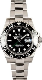 Rolex Rolex Men's Stainless Steel GMT Master II Black Ceramic Watch 116710