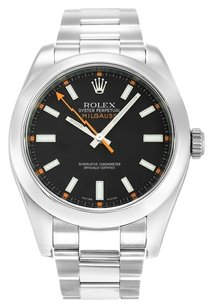 Rolex ROLEX MILGAUSS 116400 STAINLESS STEEL BLACK DIAL MEN'S WATCH
