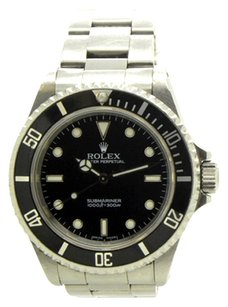 Rolex Rolex No Date Submariner Stainless Steel Black Dial Men's Watch