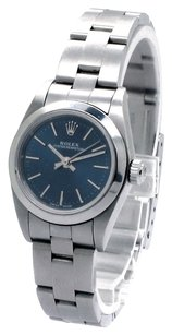 Rolex Rolex Oyster Perpetual No Date Stainless Steel Blue Dial Ladies Watch