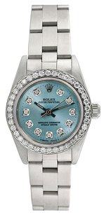 Rolex Rolex Oyster Perpetual Stainless Steel Custom Diamond Ladies Watch