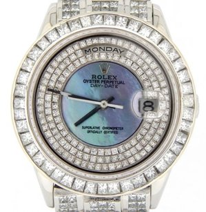 Rolex Rolex Platinum Day-date Super President 35ct Blue Mop Diamond Watch 18206