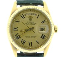 Rolex Rolex Solid 18k Yellow Gold Day-date President W Gold Black Roman Dial 1803