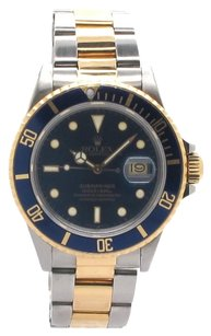 Rolex Rolex 16613 Submariner 18K Yellow Gold and Stainless Steel Blue Dial Men's Watch