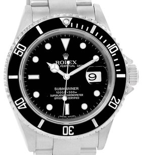 Rolex Rolex Submariner Date Stainless Steel Mens Watch 16610 Box Papers
