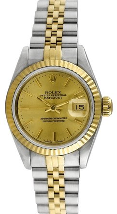 Rolex Rolex Datejust 18K Yellow Gold and Steel Champagne Dial Ladies Watch
