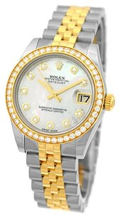 Rolex Rolex Datejust Steel and 18K Yellow Gold Custom Diamond Unisex Watch