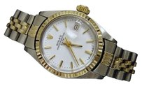 Rolex Rolex Date Ladies 2tone 14k Gold Stainless Steel Watch Jubilee White Dial 6917