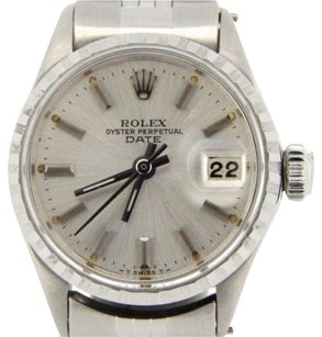 Rolex Vintage Rolex Date Ladies Stainless Steel Watch Jubilee With Silver Dial 6516
