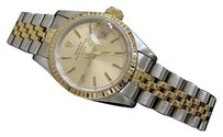 Rolex Rolex Date Ladies 2tone 18k Gold Stainless Steel Watch Champagne Dial 69173