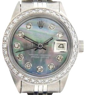 Rolex Rolex Datejust Ladies Stainless Steel Watch Tahitian Mother Of Pearl Mop Diamond