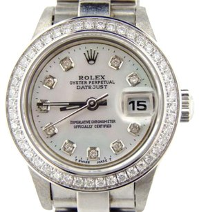 Rolex Rolex Datejust Lady Stainless Steel Watch White Mop Diamond President Style Band