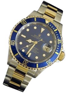Rolex Rolex Submariner Date 2tone 18k Yellow Gold Stainless Steel Blue Sub Sel 16613