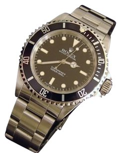 Rolex Rolex Submariner Mens Stainless Steel No Date Sub Watch Black Dial Bezel 14060