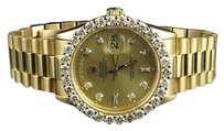 Rolex 18k Mens Yellow Gold Rolex Presidential 18038 Day-date 36mm Diamond Watch Ct