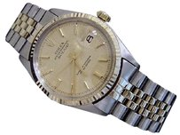 Rolex Rolex Datejust Mens 2tone 14k Yellow Gold Stainless Steel W Jubilee Band 1601