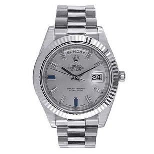 Rolex Rolex White Gold Day Date Ii Watch - Diamond And Sapphire Dial - 218239