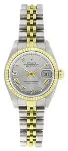 Rolex Rolex Women's Datejust Two-tone Silver Roman Dial Watch 6917