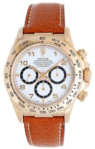 Rolex Rolex Daytona Cosmograph 116518 18K Yellow Gold White Dial Men's Watch