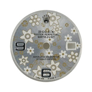 Rolex Custom Rolex Silver Flower Dial to fit 26mm - Dial Only
