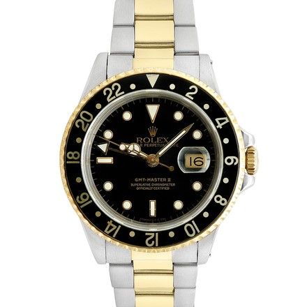Rolex Rolex GMT Master II 18K Gold and Stainless Steel Black Dial Men's Watch