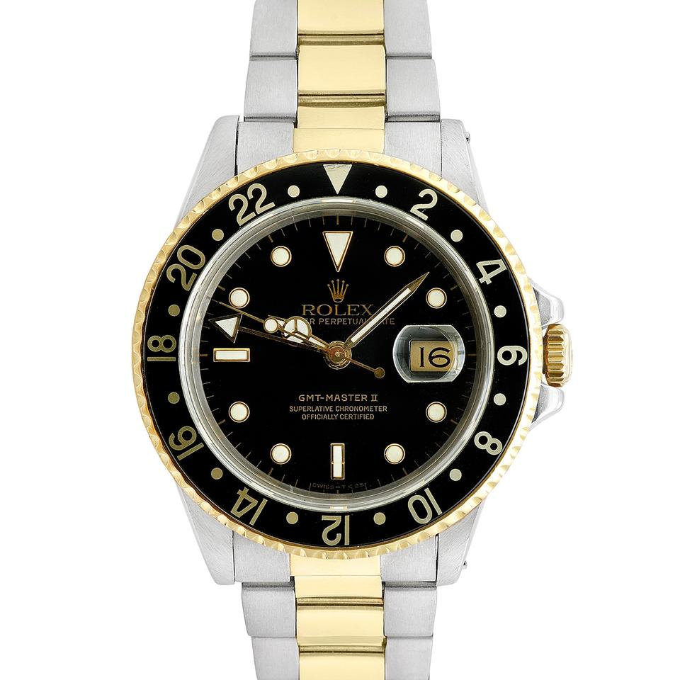 rolex stainless steel yellow gold black white 42