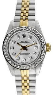 Rolex Rolex Oyster Perpetual 18K/SS Custom Diamond Ladies Watch