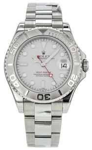 Rolex Yacht Master Platinum and Stainless Steel Midsize 35mm Automatic Watch 168622 RLXSYM52