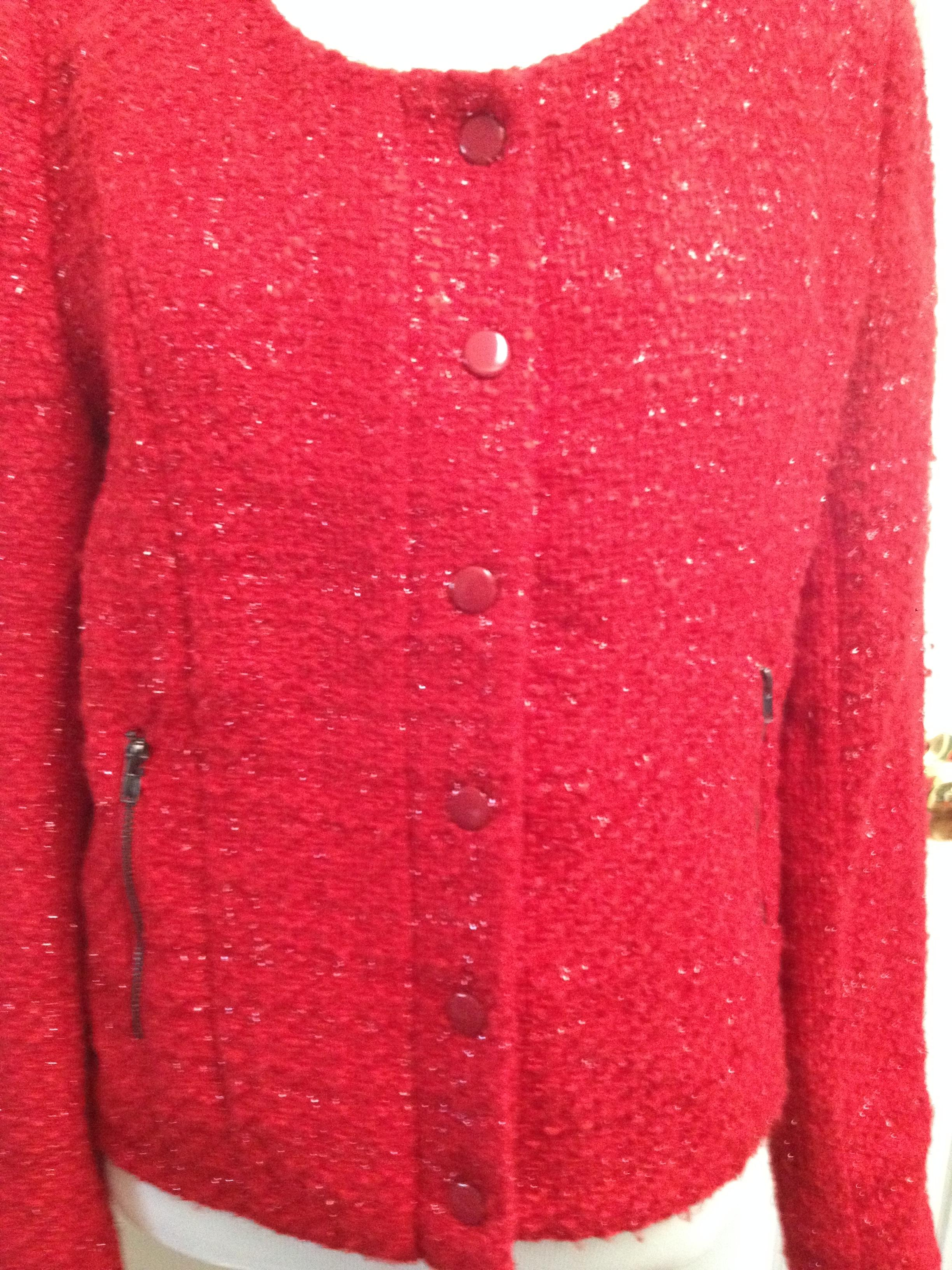 Romeo & Juliet Couture Office Work Career Red Blazer. 123456