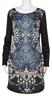 Romeo & Juliet Couture Amp Printed Above Knee Sheath Dress