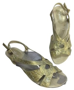 Ros Hommerson Gold Metallic Sandals