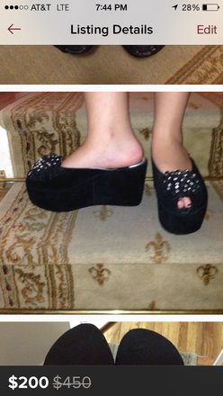 Rosetti Black Platforms
