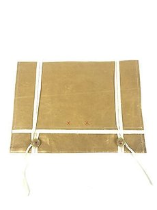Rozae Nichols Leather Gold Clutch