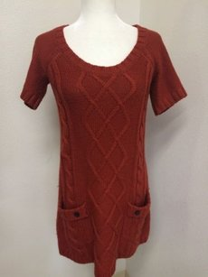 Rubbish short dress Orange Sweater Burnt on Tradesy