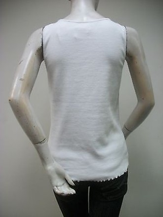 70%OFF Ruby Rd. White Ribbed Tank Top 98450 Applique Neckline
