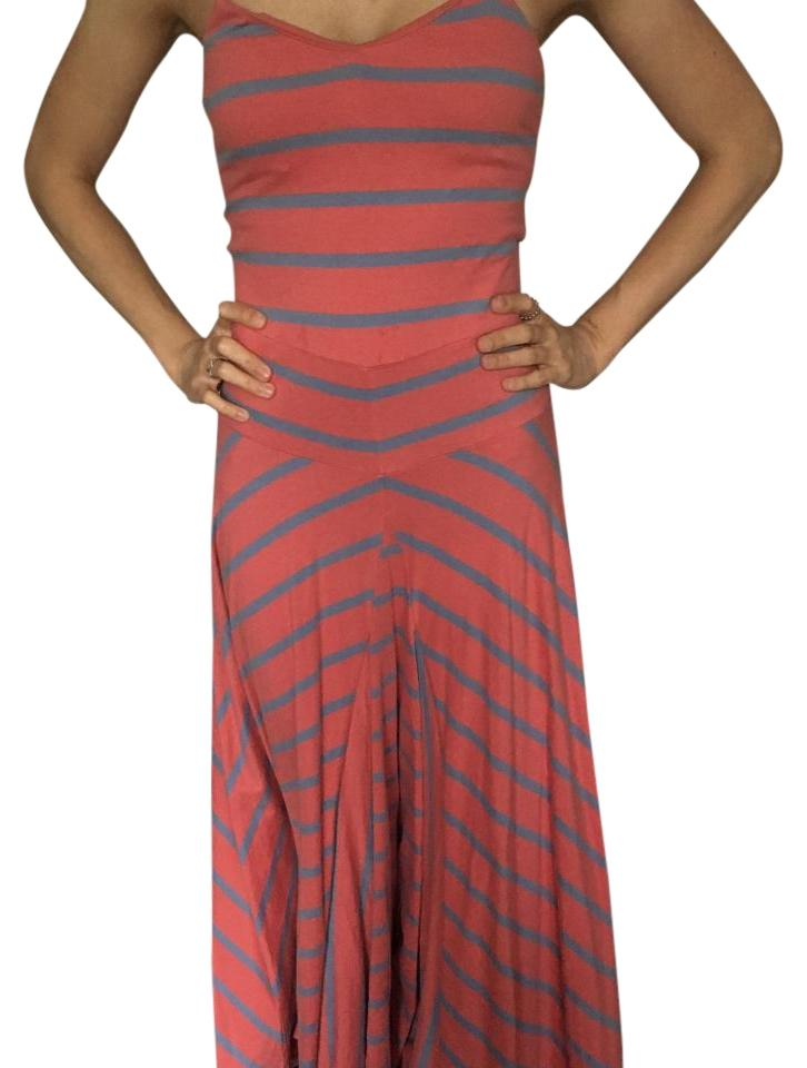 Deep pink and blue Maxi Dress by Rugby Ralph Lauren