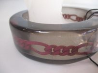 Sachin + Babi Sachin Babi Brown Resin Link Wide Bangle Bracelet Tags