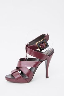 Saint Laurent Roger Vivier Red Burgundy Purple Platforms