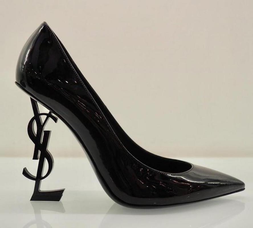 5ed3e6b1a1a5 ... Saint Laurent Black Yves Ysl Opyum Opium 110 Patent Leather Leather  Leather Heel Pumps Size EU ...