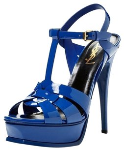 Saint Laurent Patentleather BLUE Sandals