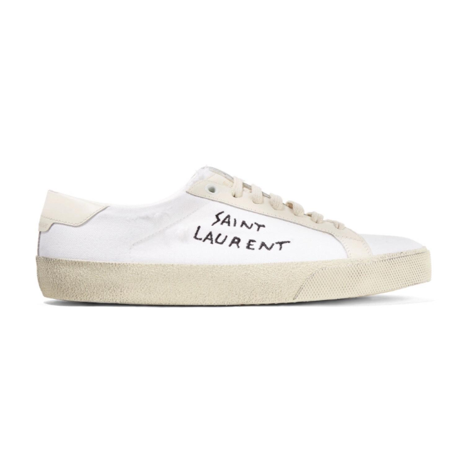 Saint Laurent Logo canvas sneakers