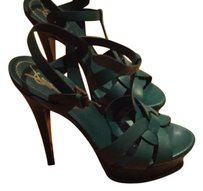 Saint Laurent Green Sandals