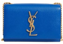 Saint Laurent Leather Gold Ysl Monogram Chain Cross Body Bag