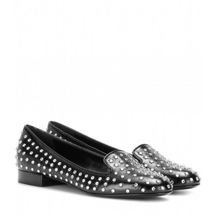 Saint Laurent Leather Italian Studded Black Flats