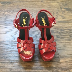 Saint Laurent Red Platforms