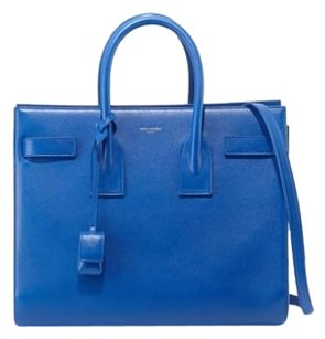 Saint Laurent Sac De Jour Ysl Tote in Blue