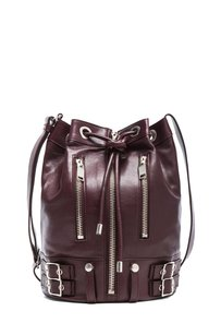 Saint Laurent Ysl Rider Bordeaux Bucket Burgundy Satchel in Purple