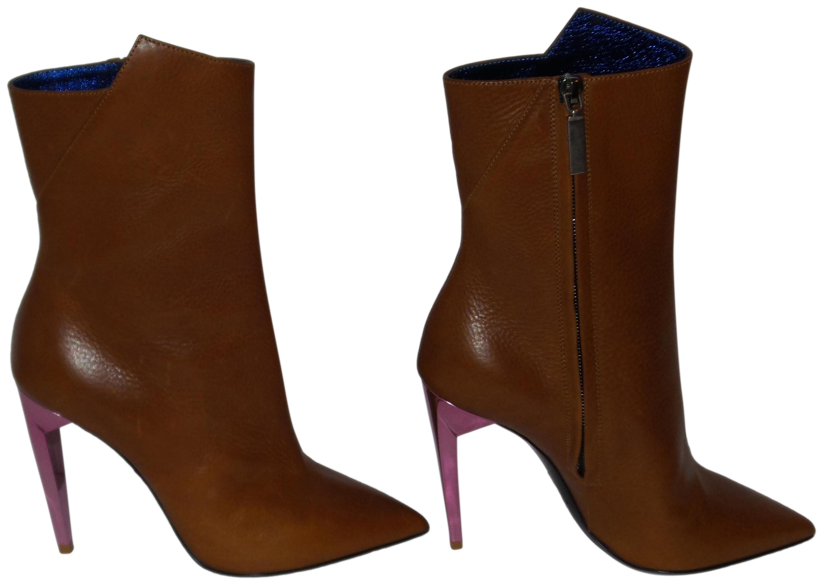 36b6214ddbc5 Saint Laurent Tan Freja Leather Ankle Boots Booties Size Size Size EU 36  (Approx. US 6) Regular (M