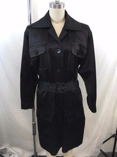 Saint Laurent Rive Gauche Vintage Satin Belted Trench Coat
