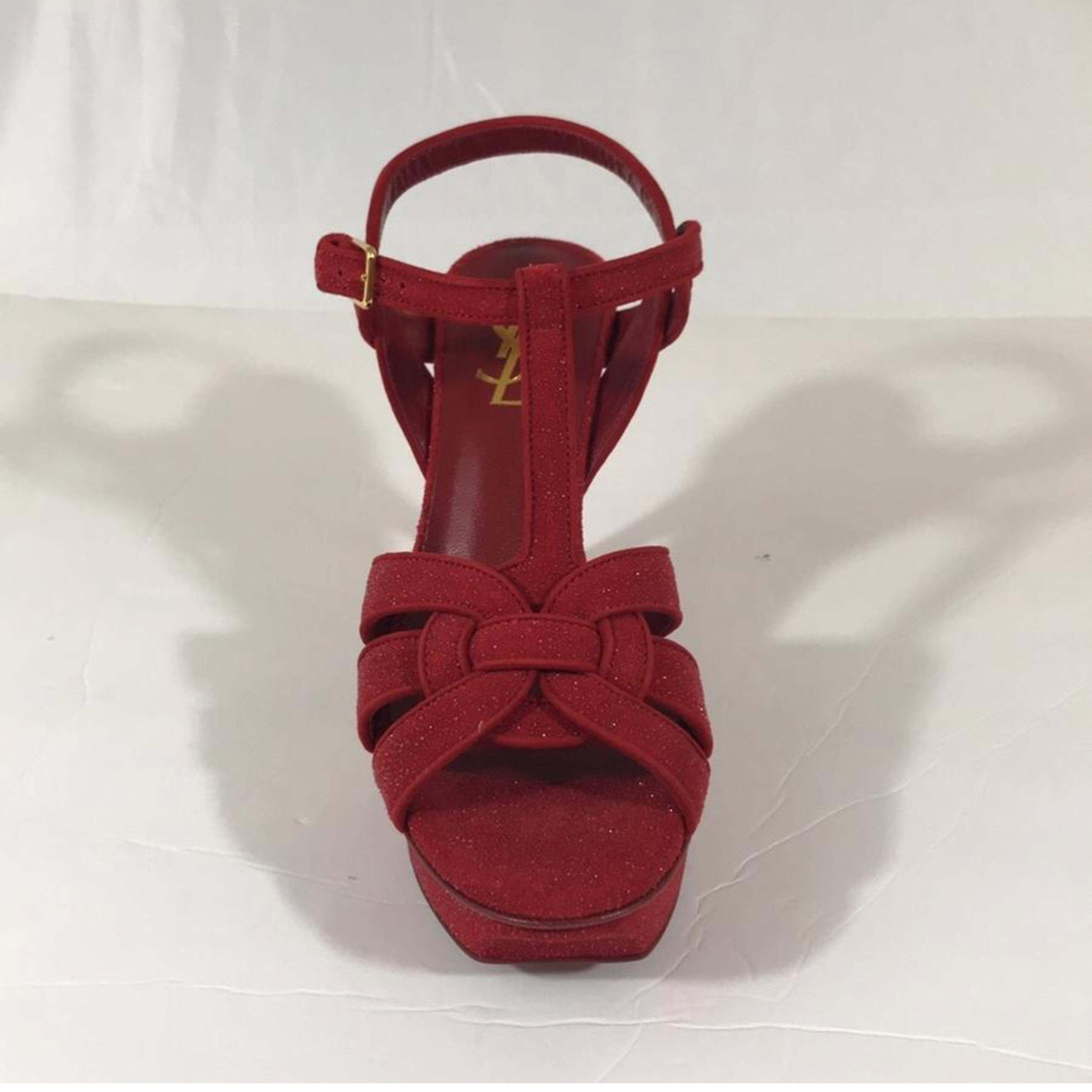 83093e0b7c4 ... Man Woman :Saint Laurent Ysl Red Sandals Sandals Sandals Size US 6.5  Regular ...